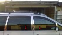 Хромированные молдинги стекол Фольксваген Шаран 1 (хром нижние молдинги стекол Volkswagen Sharan 1)