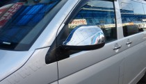 Хром накладки на зеркала Фольксваген Транспортер Т5 (хромированные накладки на боковые зеркала Volkswagen Transporter T5)