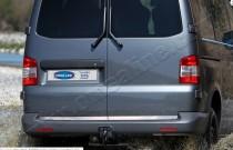 Хромированная кромка багажника Volkswagen Transporter T5 2-дверн (хром нижняя кромка задней двери Фольксваген Транспортер Т5)