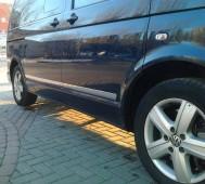 Хромированные молдинги дверей Фольксваген Транспортер Т5 (хром накладки на двери Volkswagen Transporter T5)