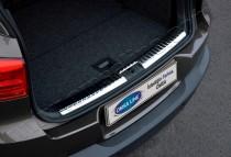 Накладка на задний бампер Фольксваген Тигуан 1 (матированная накладка заднего бампера Volkswagen Tiguan 1)
