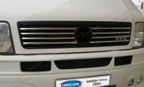 Хром накладки на решетку радиатора Фольксваген ЛТ 35 (хромированные накладки на решетку радиатора Volkswagen LT 35)