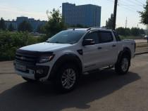 Мухобойка капота Форд Рейнджер с 2012 (дефлектор на капот Ford Ranger 2012-)