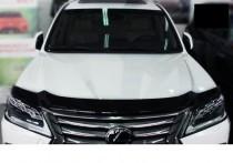 Дефлектор капота Лексус ЛХ 570 с 2015- (мухобойка на капот Lexus LX 570)