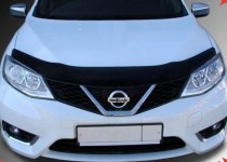 Мухобойка капота Ниссан Тиида 2 (дефлектор на капот Nissan Tiida 2)