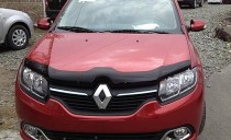 Мухобойка капота Рено Сандеро 2 (дефлектор на капот Renault Sandero 2)
