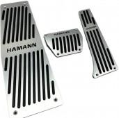 Накладки на педали Бмв Х6 Е71 с АКПП (алюминиевые накладки педалей Bmw X6 E71 Hamman)