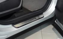 Накладки на пороги Киа Соренто 3 (защитные накладки Kia Sorento 3)