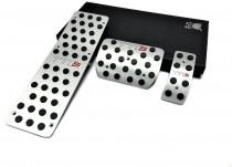 Алюминиевые пластины на педали Ауди А4 Б6 автомат (накладки педалей для Audi A4 B6)