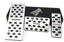 Накладки на педали Nissan X-Trail T32 Акпп (алюминиевые накладки педалей для Ниссан Х-Трейл Т32)