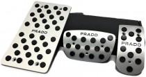 Накладки на педали Toyota Prado 150 автомат (накладки педалей для Тойота Ленд Крузер Прадо 150)