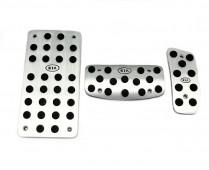 Накладки на педали Киа Соренто 1 автомат (алюминиевые накладки педалей Kia Sorento 1)