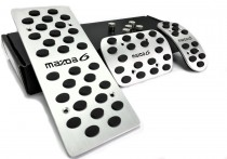 Накладки на педали Мазда 6 GG Акпп (алюминиевые накладки педалей Mazda 6 GG)
