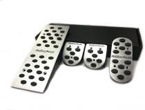 Накладки на педали Мазда 3 BL механика (алюминиевые накладки педалей Mazda 3 BL)