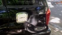 Хром накладка на лючок бензобака Тойота Рав 4 2 (хромированный лючок на бензобак Toyota RAV4 2)