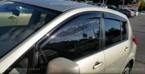 Дефлекторы окон Ниссан Тиида хэтчбек (ветровики Nissan Tiida Hatchback)