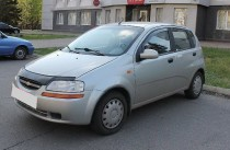заказать Мухобойка Шевроле Авео 1 (дефлектор капота Chevrolet Av