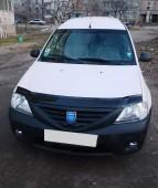 Дефлектор капота Дачия Логан 1 (мухобойка Dacia Logan 1)