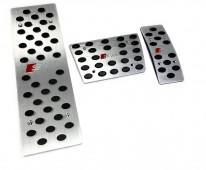 Пластины на педали Шкода Фабия 1 автомат (алюминиевые пластинки педалей Skoda Fabia 1)