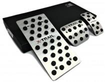 Пластины на педали в Nissan X-Trail T32 автомат (оригинальные пластинки педалей для Ниссан Икс-Трейл Т32)