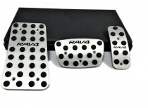 Пластины на педали для Тойота Рав4 2 автомат (оригинальные пластинки педалей в Toyota Rav4 2)