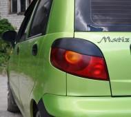 Реснички на стопы Daewoo Matiz (декоративные накладки)