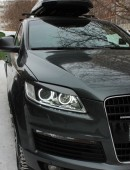 Реснички на фары Audi Q7 (передние накладки фар Ауди Q7)