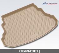 Бежевый коврик в багажник Infiniti QX70 (коврик багажника Инфинити QX70 светлый)