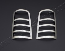 Хром накладки на стопы Пежо Партнер 1 (хром пакет на задние фары Peugeot Partner 1)