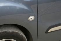 Хром накладки на повторители поворотов Пежо Партнер 1 (хром окантовка на поворотники Peugeot Partner 1)