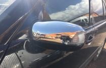 Хромированные накладки на зеркала Мерседес 210 (хром накладки на боковые зеркала Mercedes W210)