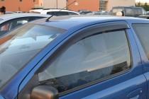 Ветровики на Тойота Ярис 1 3Д (дефлекторы окон Toyota Yaris 1 3D)