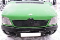 Зимняя заглушка решетки Мерседес Спринтер W901 (глянцевая заглушка на решетку Mercedes Sprinter W901)