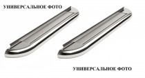 Пороги труба с листом Сузуки Гранд Витара 2 (пороги площадкой Suzuki Grand Vitara 2)