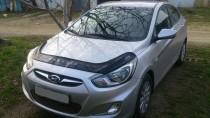 VIP Tuning Дефлектор для капота Hyundai Accent 4 длинный (мухобойка Хендай Акцент 4)