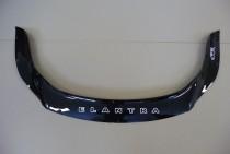 Дефлектор капота Хендай Элантра 5 МД длинный (мухобойка на капот Hyundai Elantra 5 MD)