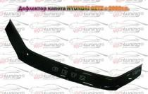 Дефлектор на капот Хендай Гетц дорестайл (мухобойка капота Hyundai Getz)