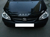 Дефлектор на капот Hyundai Getz рестайл (мухобойка капота Хендай Гетц)