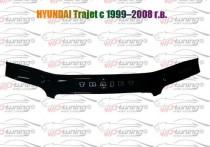 Дефлектор капота Хендай Траджет (мухобойка на капот Hyundai Trajet)
