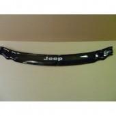 Дефлектор капота Джип Гранд Чероки WK (мухобойка на капот Jeep Grand Cherokee WK)