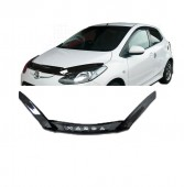 Дефлектор капота Мазда 2 ДЕ (мухобойка на капот Mazda 2 DE)