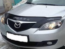 Дефлектор капота Mazda 3 BK hatchback (мухобойка на Мазда 3 ВК хэтчбек)