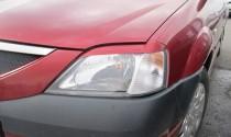 Реснички на передние фары Дачия Логан 1 (Renault Logan 1)