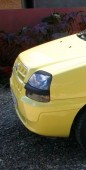 Реснички на фары Фиат Добло 1 (накладки фар декоративные Fiat Doblo)