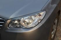 Купить накладки на фары для Hyundai Elantra 4 hd (реснички фото)