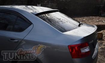 Спойлер на крышку багажника Шкода Октавия А7 (задний спойлер Oct