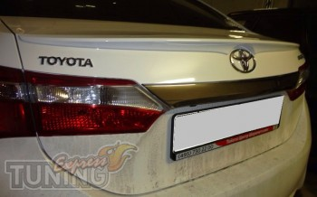 Спойлер на багажник Тойота Королла 10 седан (сабля спойлер Toyot