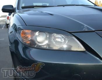 Декоративные реснички на фары Mazda 3 седан