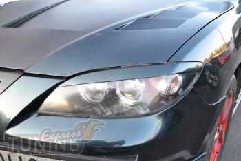 Декоративные верхние реснички на фары Mazda 3 (фото)