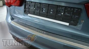 Накладка на задний бампер Киа Рио 3 (защитная накладка бампера K